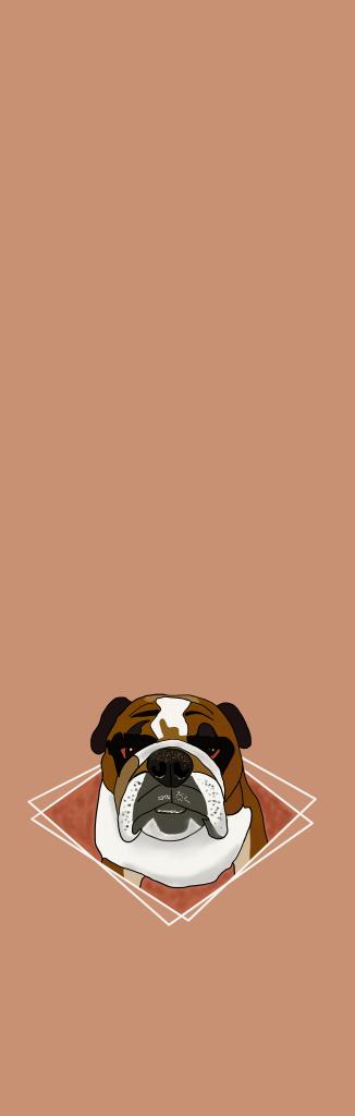 English Bulldog design yoga mat